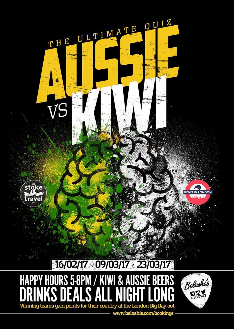 Aussie v Kiwi quiz challenge